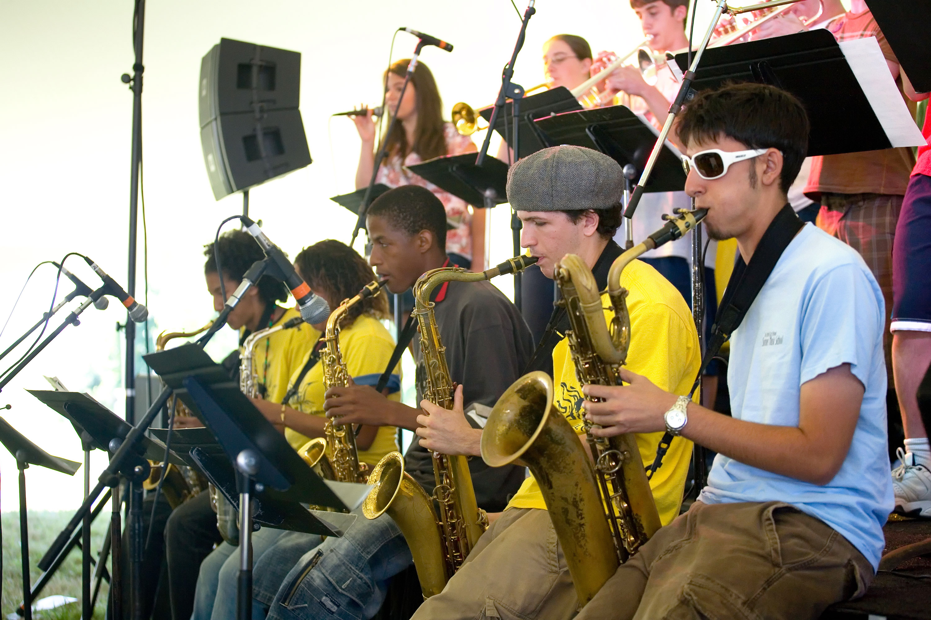 Big Band Performs on the Student Stage at the Litchfield Jazz Fest. Photo by Antonio Monteiro.