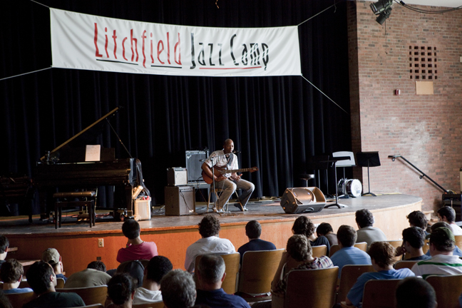 Festival Star Lionel Loueke Gives Master Class Jazz Fest Weekend. Photo by Fran Kaufman.