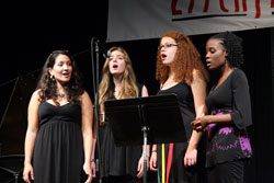 Singers! Vocal Jazz at the Litchfield Jazz Camp. Photo by Matt Lincoln.
